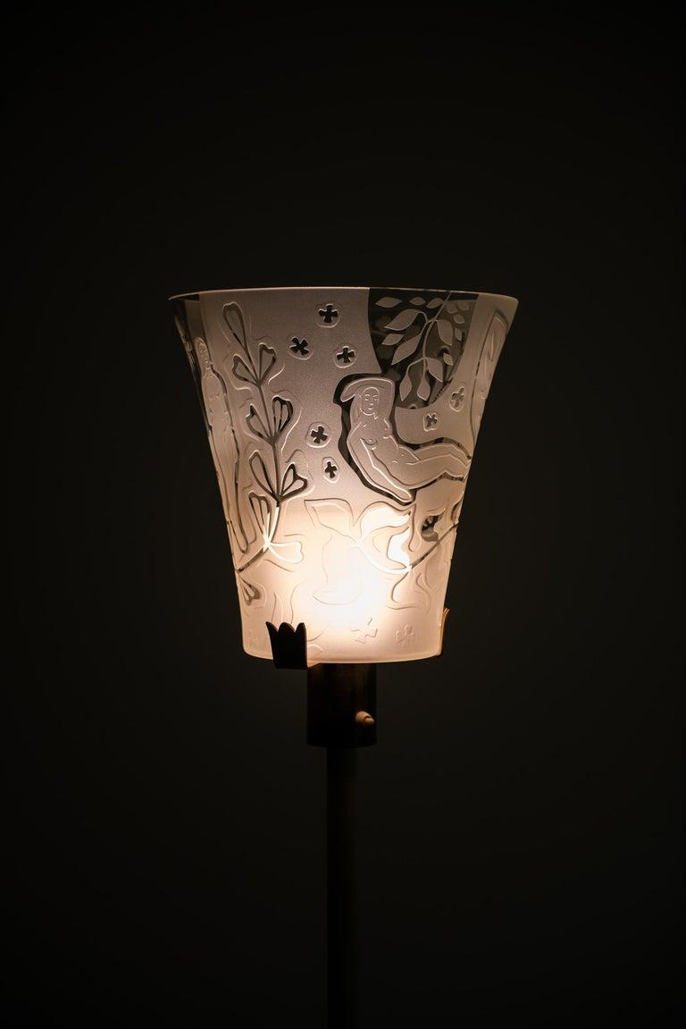 Swedish Bo Notini floor lamp produced by Glössner & Co. in Denmark For Sale