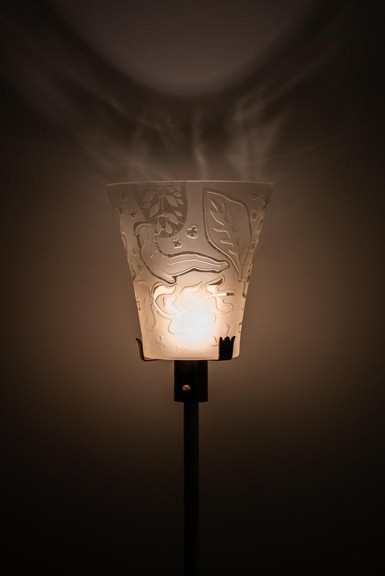 Mid-20th Century Bo Notini floor lamp produced by Glössner & Co. in Denmark For Sale