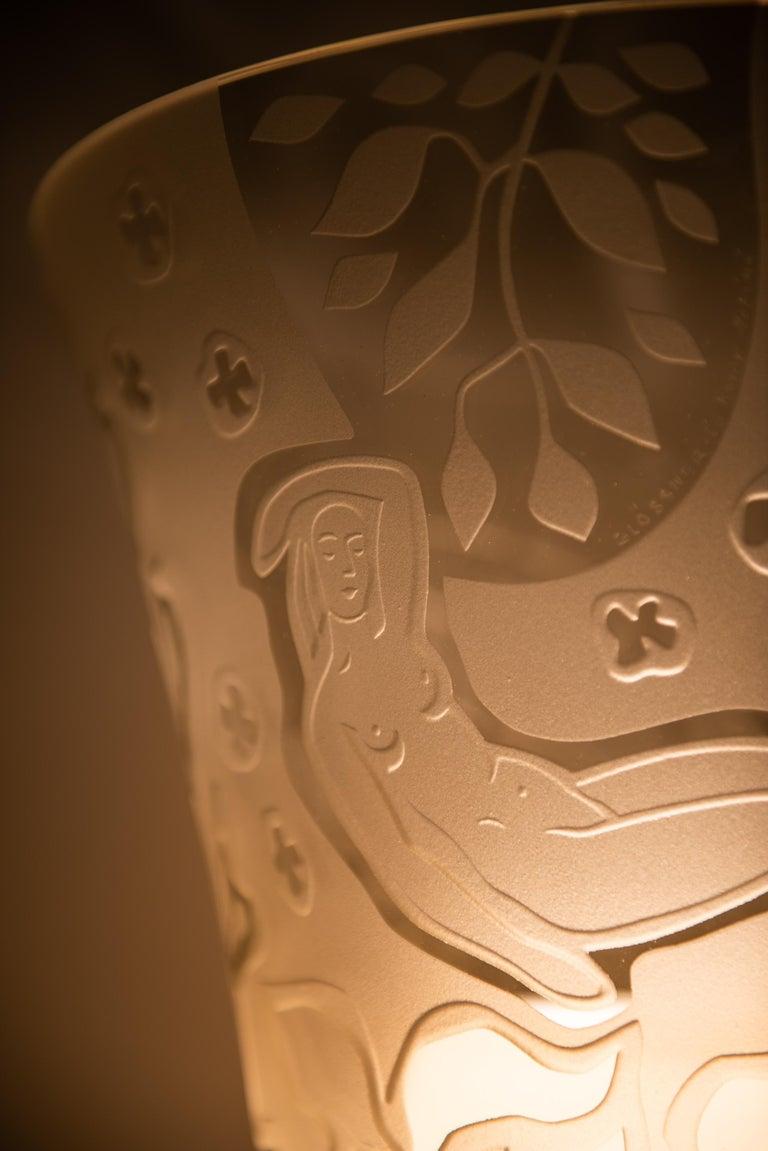 Brass Bo Notini floor lamp produced by Glössner & Co. in Denmark For Sale