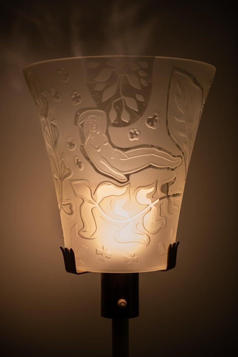 Bo Notini floor lamp produced by Glössner & Co. in Denmark For Sale 1