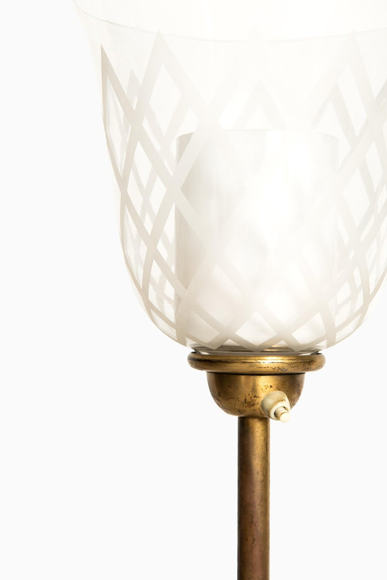 Swedish Bo Notini Floor Lamp Produced by Glössner & Co. in Sweden For Sale