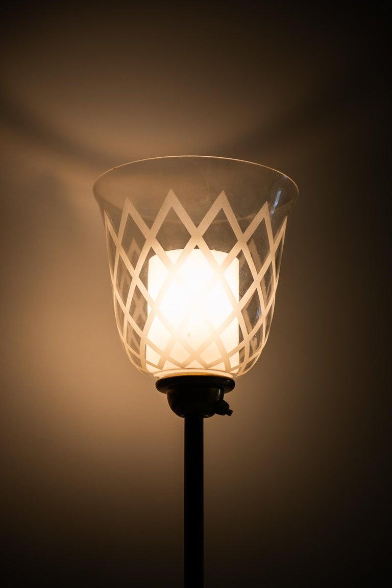 Brass Bo Notini Floor Lamp Produced by Glössner & Co. in Sweden For Sale
