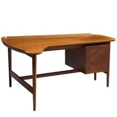 Arne Vodder for Bovirke Freeform Teak Desk by