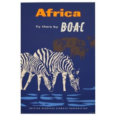 BOAC 1957 Africa Travel Poster