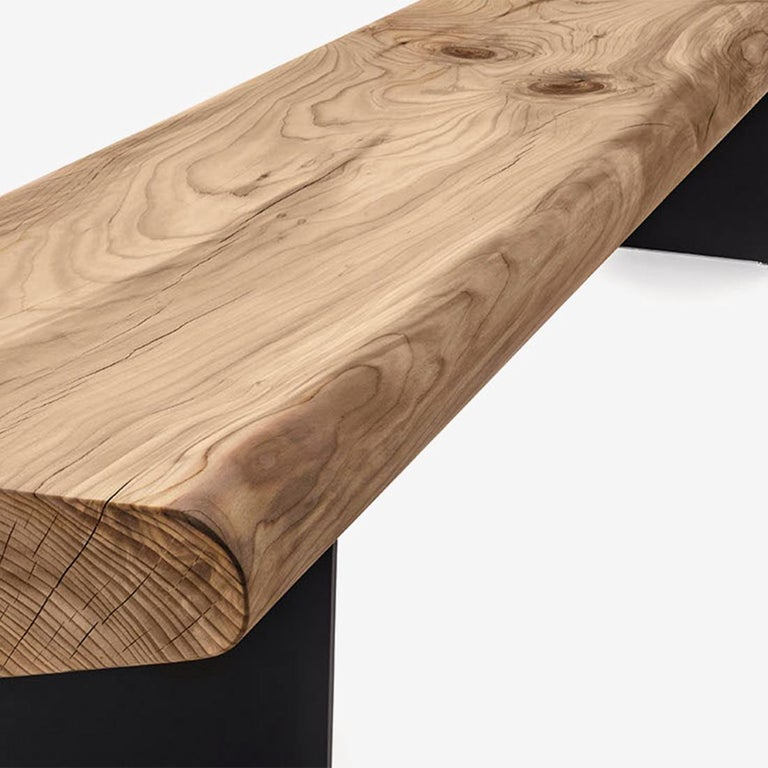 Hand-Crafted Board Bench For Sale