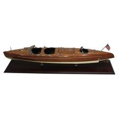 Boat Model, Vintage Speedboat