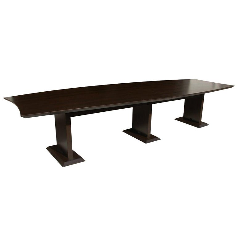 12ft Boat Shaped Dining Table For Sale
