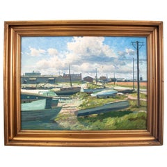"""""""Boats on the shore"""" Painting"""