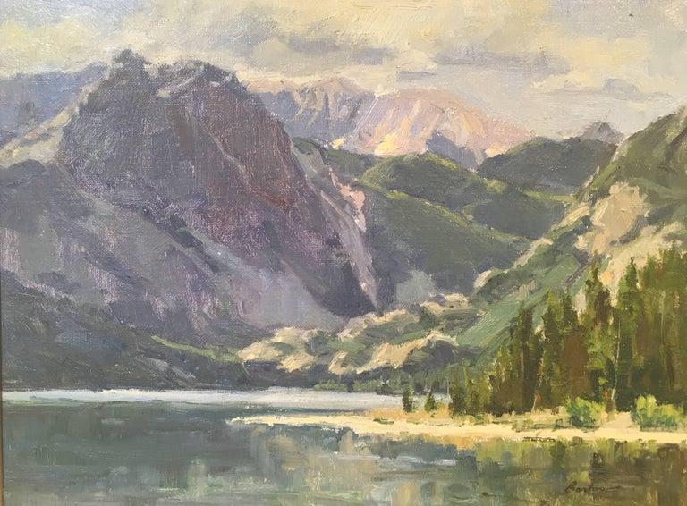 East Rosebud Lake - Painting by Bob Barlow