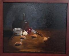 Oil on Canvas -- Allium