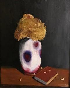 Oil on Canvas -- Dried Hydrangea