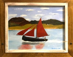 Oil on Canvas -- Galway Hooker and the Connemara