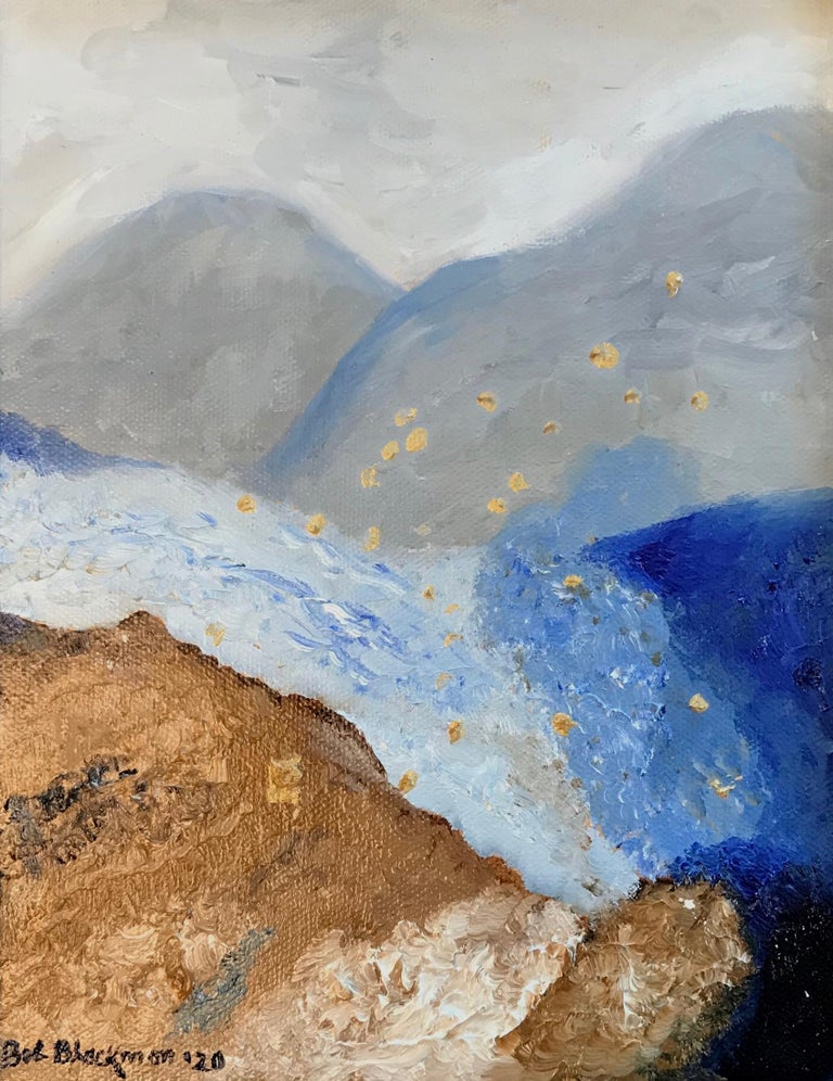 Oil on Canvas -- Glacier Till - Painting by Bob Blackmon