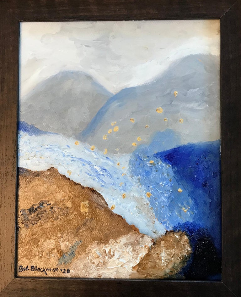 Bob Blackmon Abstract Painting - Oil on Canvas -- Glacier Till
