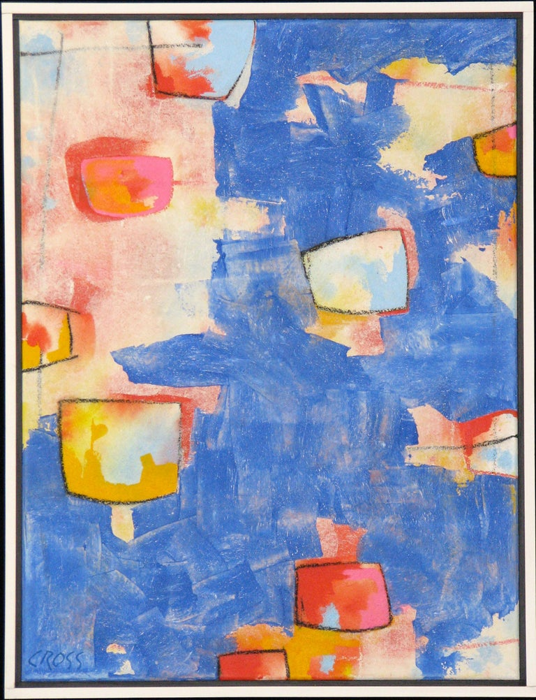 Bob Cross Abstract Painting - Across the Pond