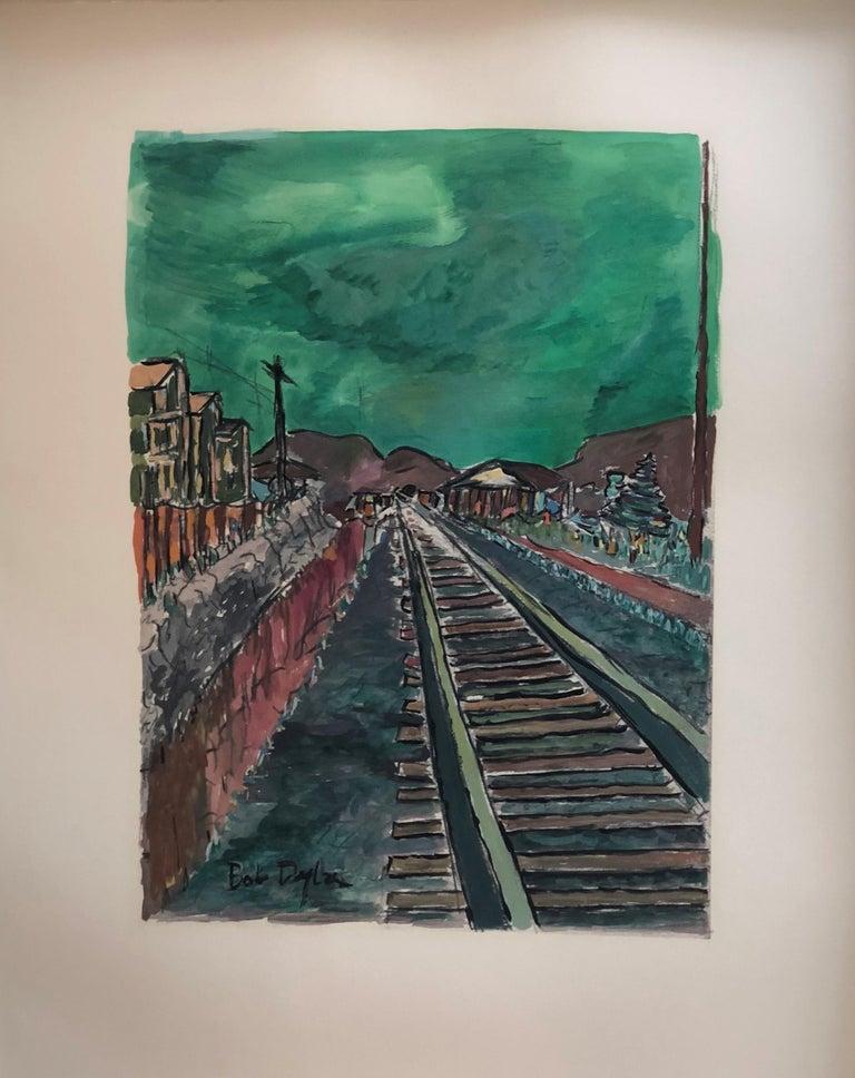 Train Tracks - Print by Bob Dylan