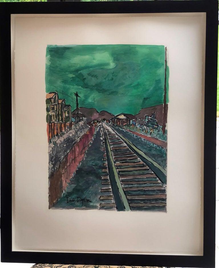 Bob Dylan Landscape Print - Train Tracks