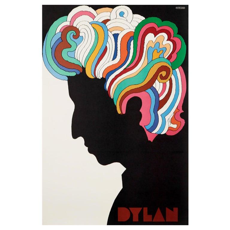 Bob Dylan Original Vintage Poster by Milton Glaser, 1967 For Sale