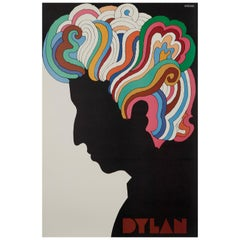 Bob Dylan Original Vintage US Souvenir Poster by Milton Glaser, 1967