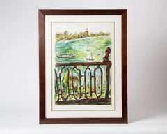 """Bob Dylan Vista From Balcony Sold Out """"Drawn Blank"""" Series SIgned art"""