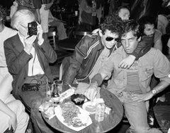 Andy Warhol, Lou Reed and Danny Fields at the Bottom Line, NYC