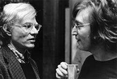 John Lennon & Andy Warhol, NYC