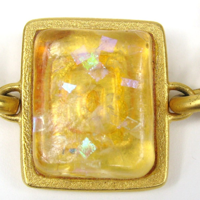 Women's Bob House Gold Speckle Glass Bracelet & Earrings set For Sale