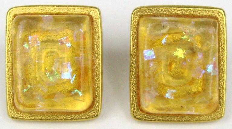 Bob House Gold Speckle Glass Bracelet & Earrings set For Sale 1