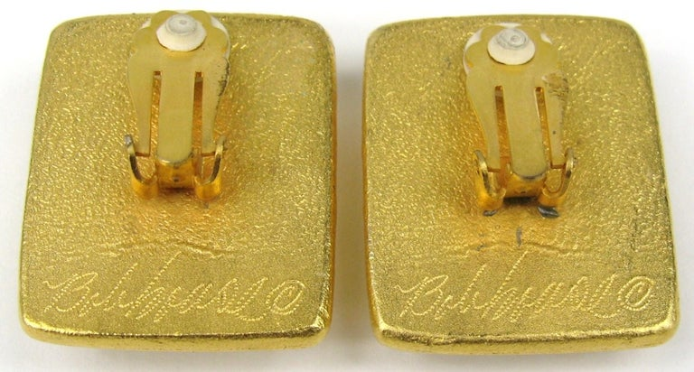 Bob House Gold Speckle Glass Bracelet & Earrings set For Sale 2