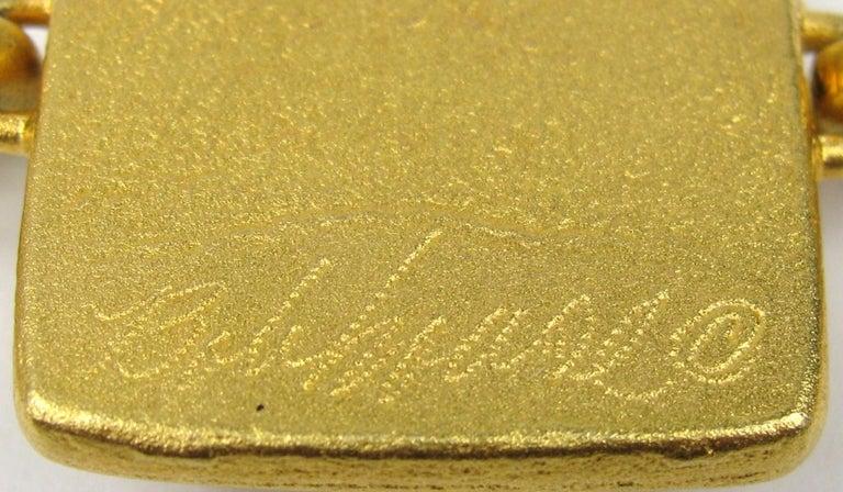 Bob House Gold Speckle Glass Bracelet & Earrings set For Sale 3