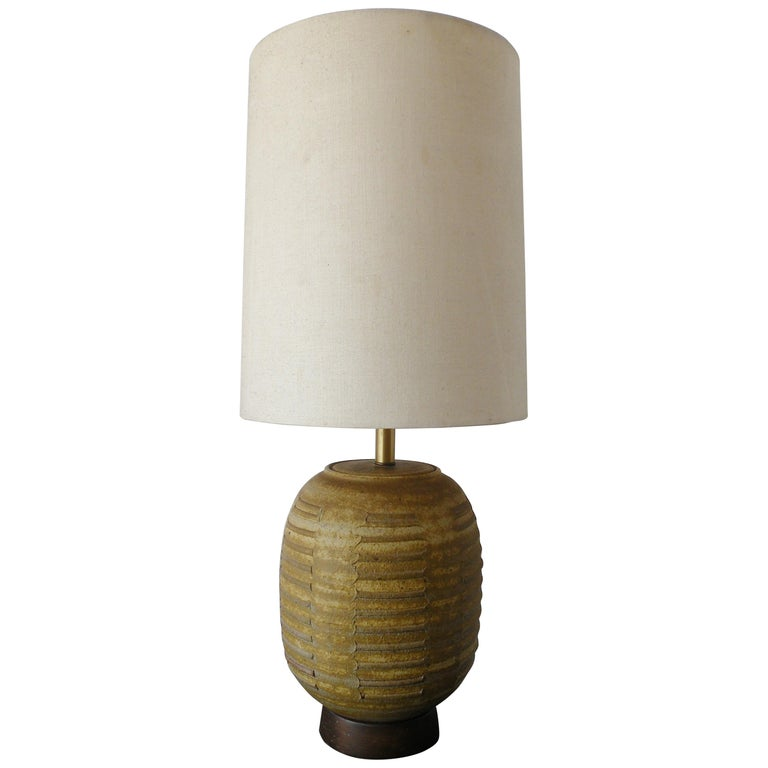 Bob Kinzie Affiliated Craftsmen California Studio Pottery Table Lamp For Sale