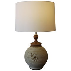 Stoneware Lamp by Bob Kinzie for the Affiliated Craftsmen Lamp Company