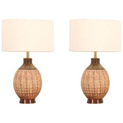 "Bob Kinzie ""N-Series"" Ceramic Table Lamps for Affiliated Craftsmen"