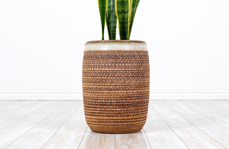 American Bob Kinzie Stoneware Pottery Planter for Affiliated Craftsmen