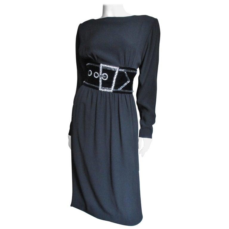 Bob Mackie Trompe L'oeil Dress 1970s For Sale