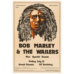 Bob Marley & The Wailers Original Vintage Concert Poster, UC Berkeley, 1978