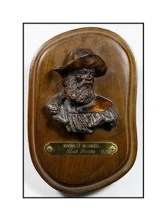 Bob Parks Original Bronze Sculpture Warmest Regards Signed Cowboy Western Art