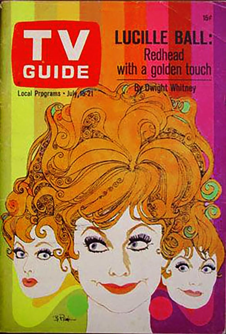 Lucille Ball, original painting for TV Guide cover - Painting by Bob Peak