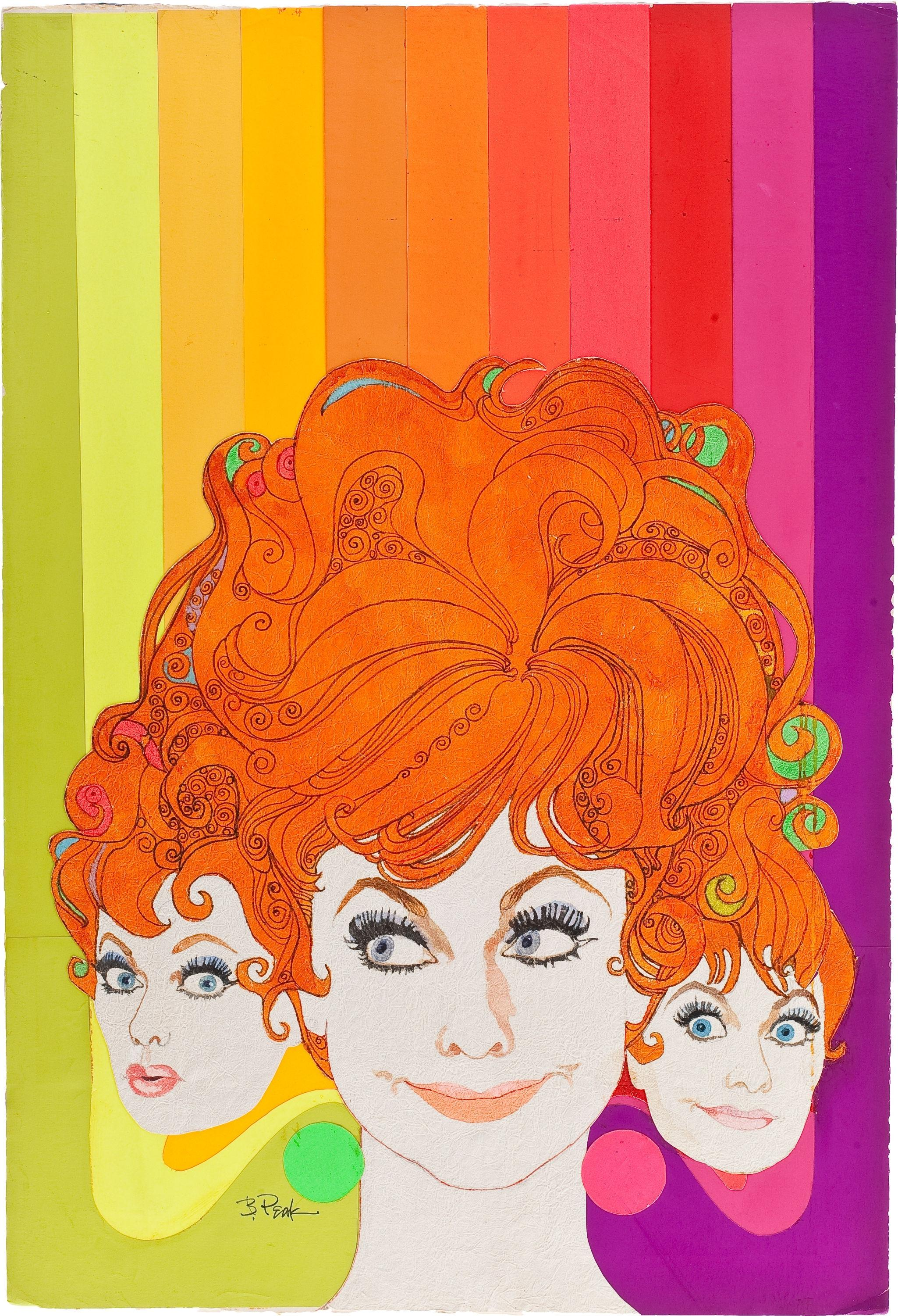 Groovy Lucille Ball, original painting for TV Guide cover