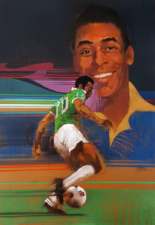 Pelé Brazilian, footballer, Soccer Star, Illustration