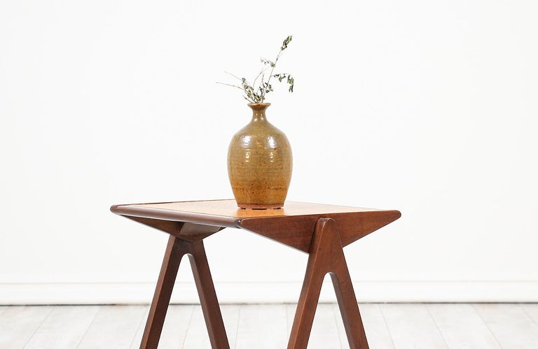 Bob Roukema Cork Top Nesting Tables for Jon Jansen For Sale 4