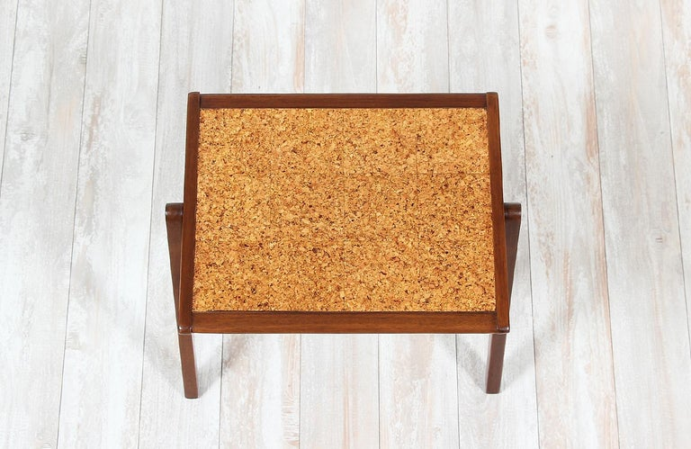 Bob Roukema Cork Top Nesting Tables for Jon Jansen For Sale 1