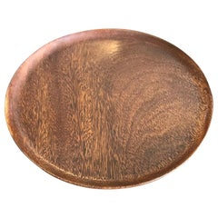 Bob Stocksdale Mid-Century Modern Turned Exotic Wood Bowl Platter