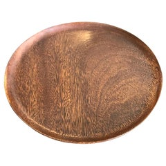 Bob Stocksdale Mid-Century Modern Turned Exotic Wood Bowl Platter