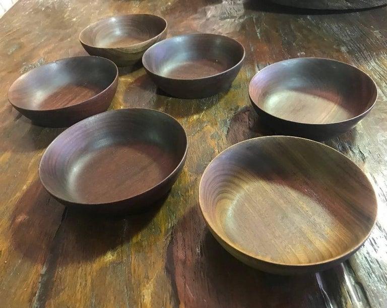 Bob Stocksdale Set of Six Wood Turned Bowls For Sale 2