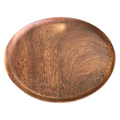 Bob Stocksdale Signed Mid-Century Modern Turned Exotic Wood Bowl Platter