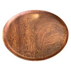 Bob Stocksdale Signed Mid-Century Modern Turned Exotic Wood Bowl Platter