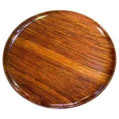 Bob Stocksdale Signed Mid-Century Modern Turned Exotic Wood Charger Platter