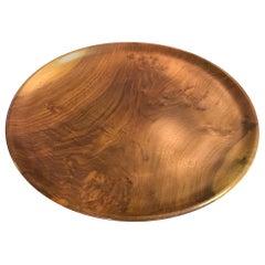 Bob Stocksdale Signed Monumental Modern Large Wood Turned Black Walnut Charger