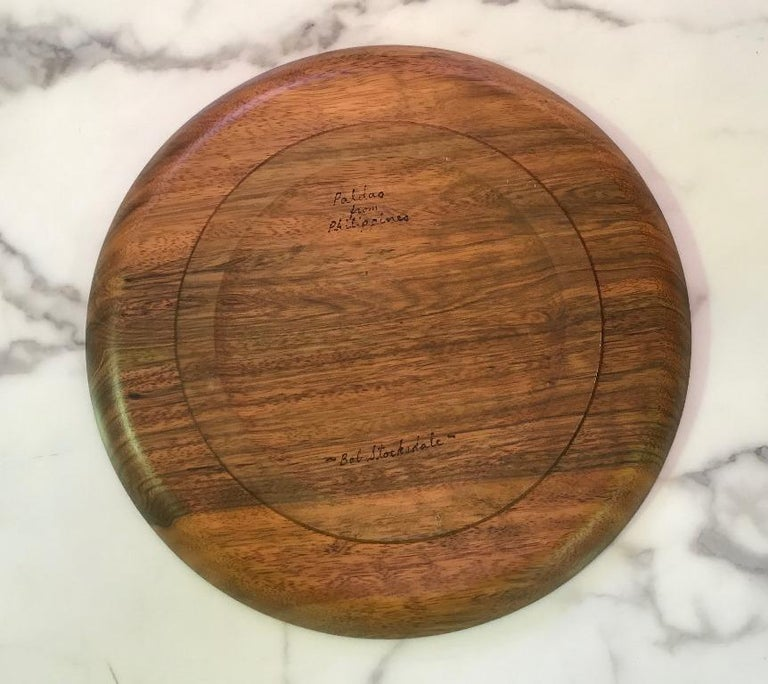 American Bob Stocksdale Turned Wood Art Plate Platter For Sale
